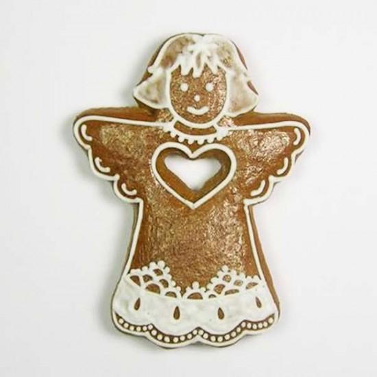 """Formelė """"Angeliukas su širdele išskleistais sparnais"""", 7,5 cm"""