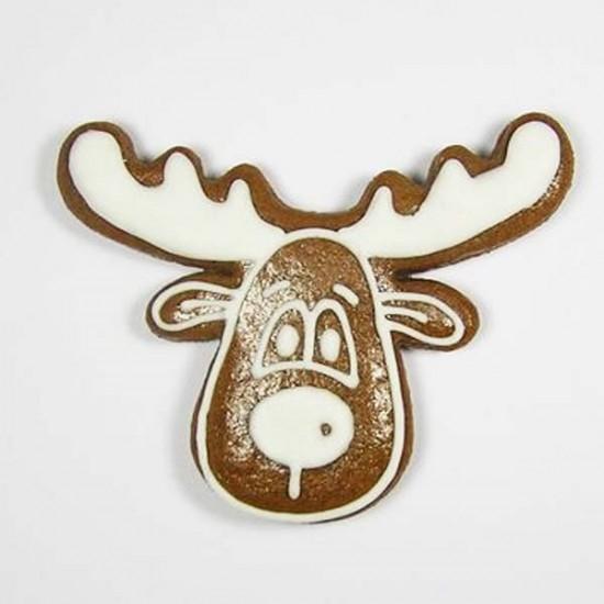 """Formelė imbierinukams ir kitiems sausainiams """"Kalėdinio elnio galva"""", 5,5 cm"""