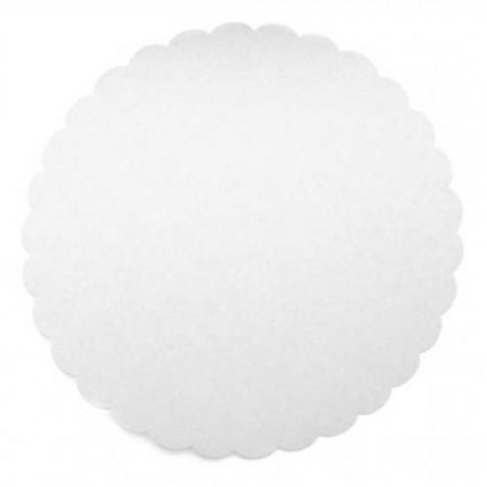 Balti torto padėkliukai, 5 vnt. Ø 24 cm