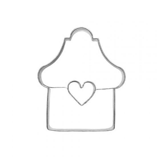 """Formelė sausainiams su skylute """"Namelis su langeliu"""", 6,7 cm"""
