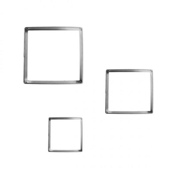 "Formelės ""Kvadratėliai"",3,5x3,5 cm, 2,5x2,5 cm, 1,2x1,2 cm, 3 vnt."