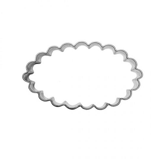"""Formelė """"Ovalas banguotais kraštais"""", 5,5x2,1 cm"""