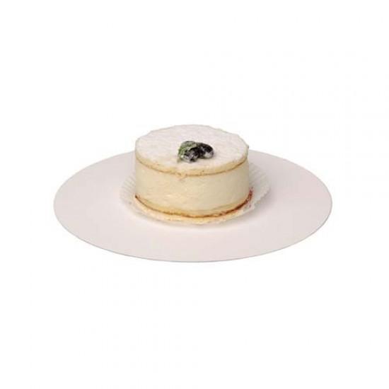 Balti torto padėkliukai, 5 vnt. Ø 15 cm