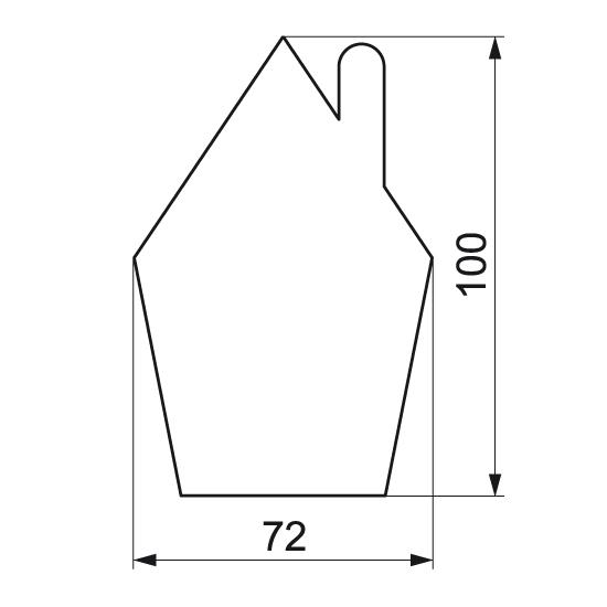 """Formelė meduoliams """"Namukas"""", 10 cm"""