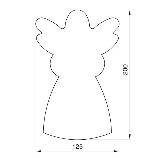 "Formelė meduoliams ""Angelas"", 20,5 cm"