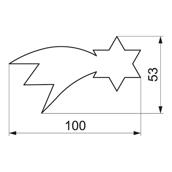 """Formelė """"Betliejaus žvaigždė"""", 10,0x5,3 cm"""