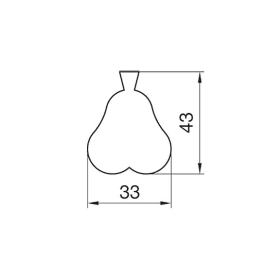 "Formelė ""Kriaušytė"", 4,3 cm"
