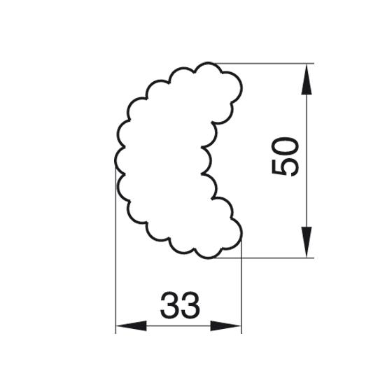 """Formelė """"Mėnulis banguotais kraštais"""", 5,0x3,3 cm"""