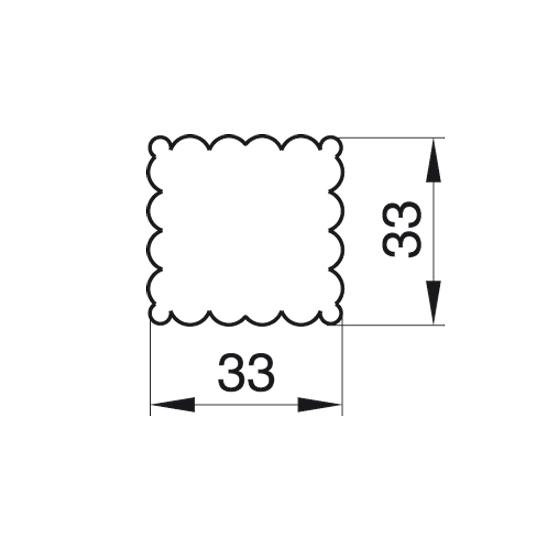 """Formelė """"Kvadratas"""", 3,3x3,3 cm"""