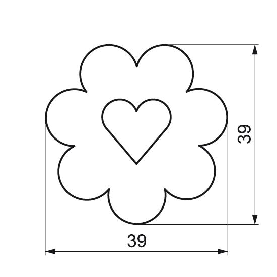 """Formelė """"Gėlytė su širdele"""""""