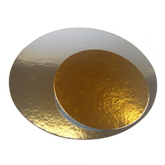 Auksinės spalvos padėklai, 5 vnt. Ø 29,5 cm