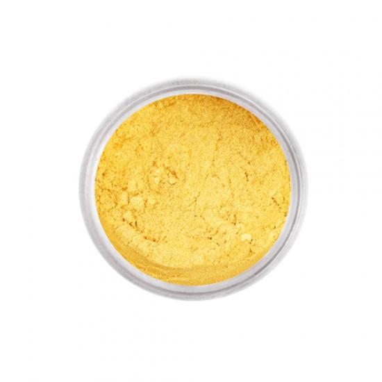 Auksinės spalvos sausi blizgūs maistiniai dažai, 2,5 g