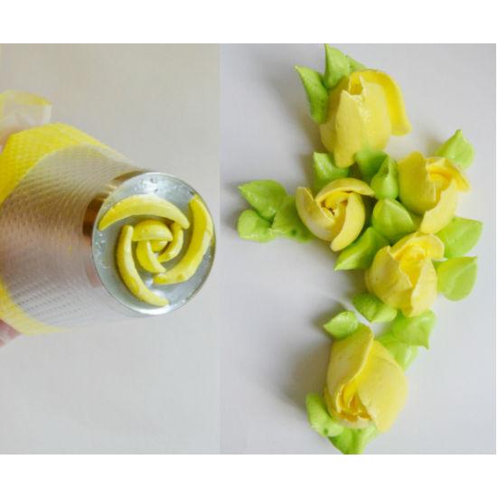 Konditerinis antgalis tulpėms gaminti