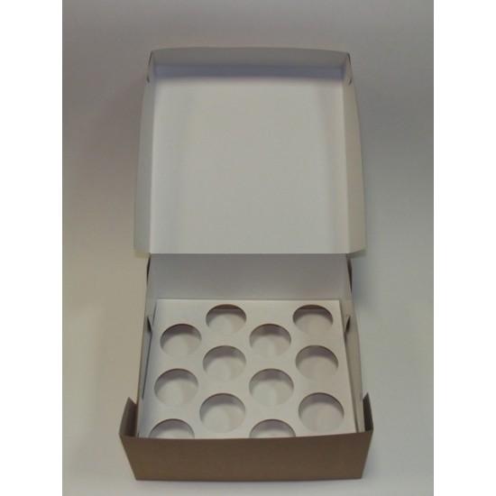 Dėžutės keksiukams, 2 vnt., 26x26x11 cm