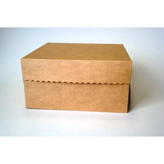 Dėžutės keksiukams, 2 vnt., 21x21x10,5 cm