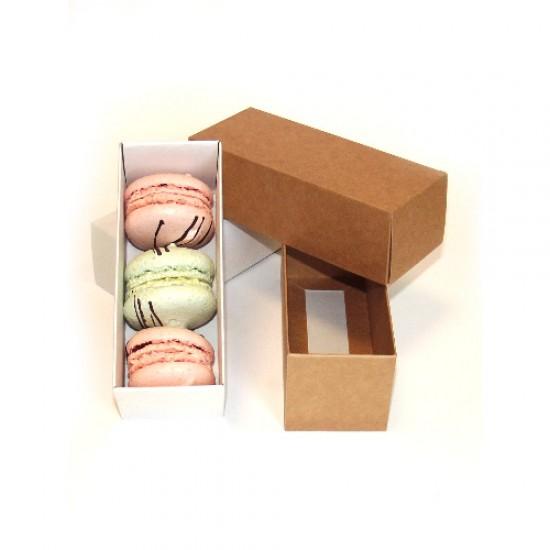 Macarons dėžutės, 2 vnt., 13x5x5 cm