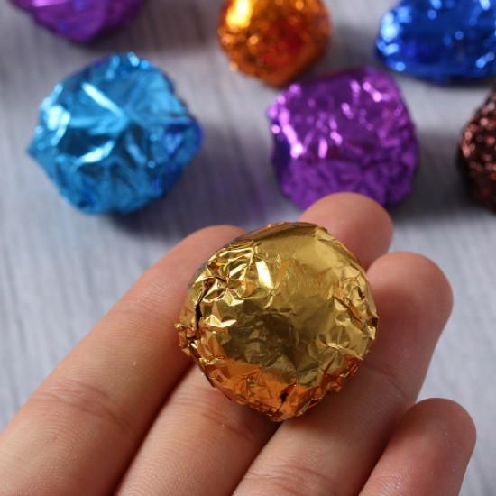 Aliumininė folija saldainiams įpakuoti, 15 vnt.