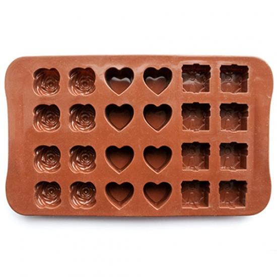 Silikoninė formelė šokoladiniams saldainiams