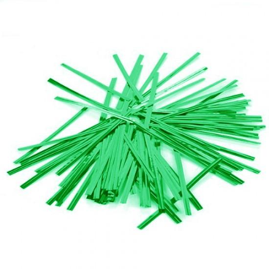 Žalios juostelės maišelių užrišimui, 25 vnt.