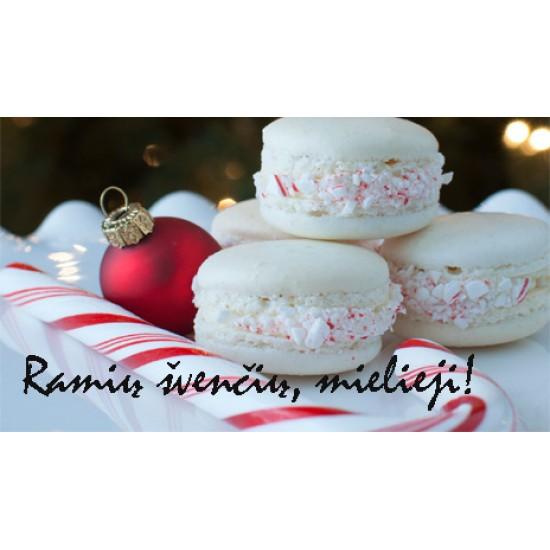 """Dovanų kortelė """"Kalėdiniai macarons"""""""