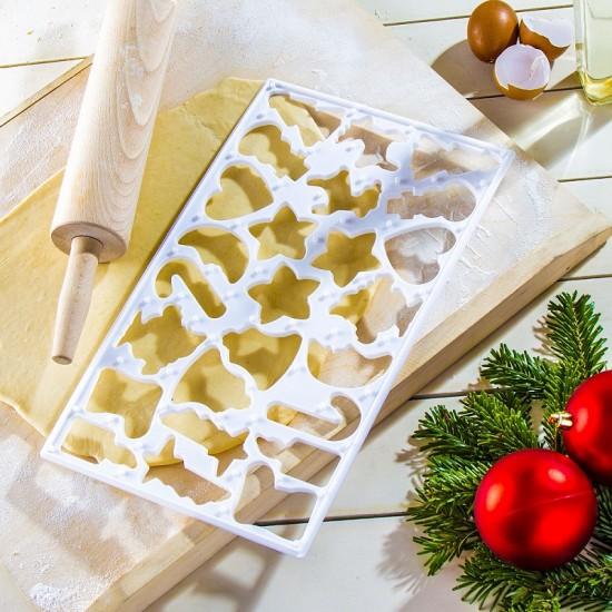 Šablonas kalėdiniams meduoliams