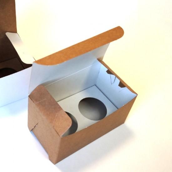 Dėžutės keksiukams, 2 vnt., 16x9x9 cm