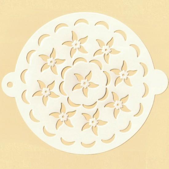 """Trafaretas """"Gėlės"""", Ø 20,5 cm"""