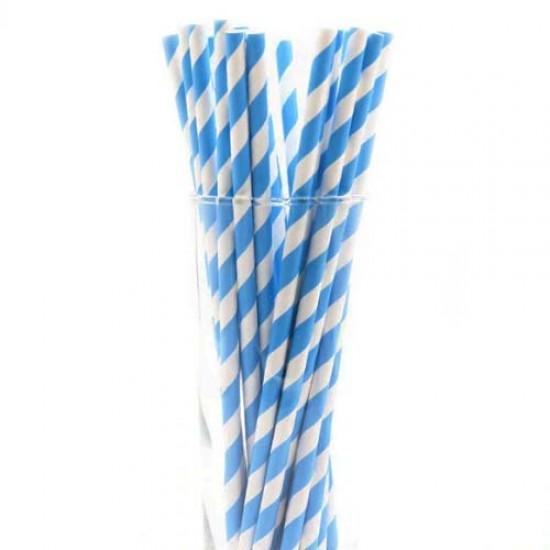 Dryžuoti mėlyni pagaliukai