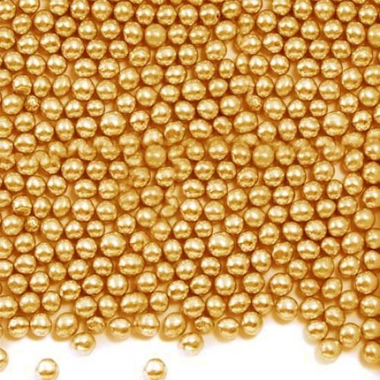 Cukriniai perlai auksinės spalvos, 60 g