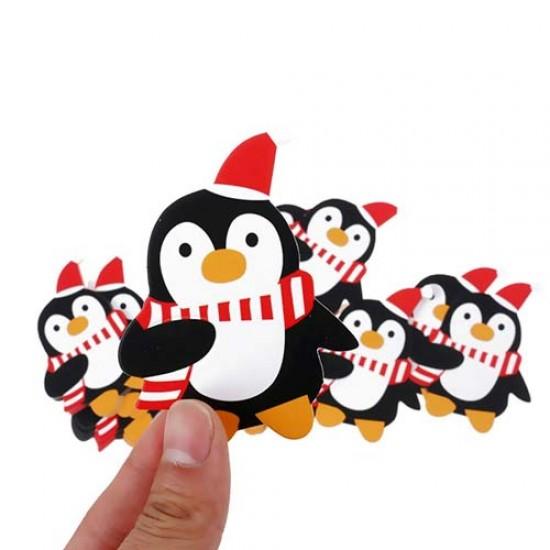 """Kortelės pagaliukams """"Pingvinai"""", 10 vnt."""