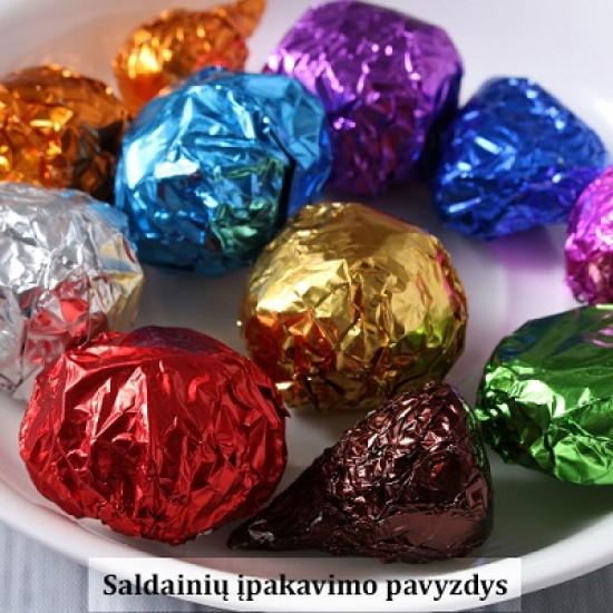 Violetinė folija saldainiams įpakuoti, 15 vnt.