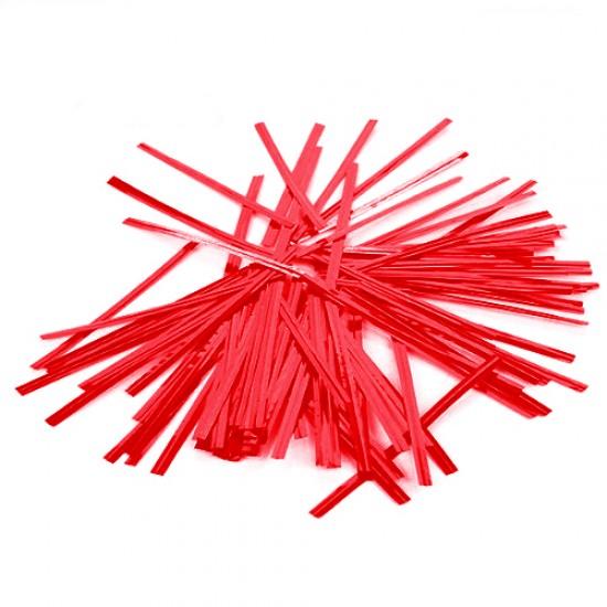 Raudonos juostelės maišelių užrišimui, 25 vnt.