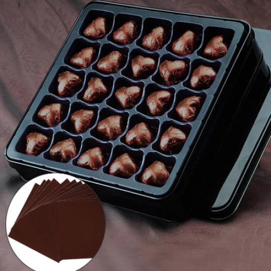 Ruda folija saldainiams įpakuoti, 15 vnt.