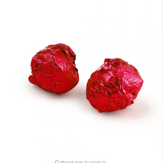 Raudona folija saldainiams, 15 vnt.