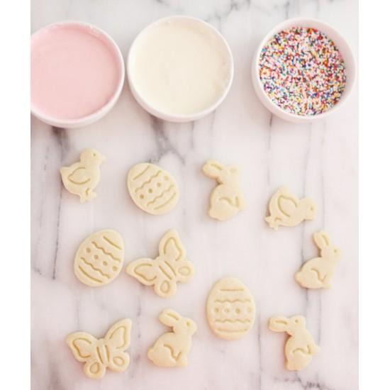 """Formelės cukrinei masei, sausainiams """"Drugelis, kiškis, kiaušinis, zuikis"""", 4 vnt."""