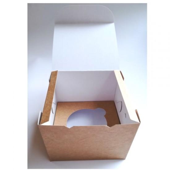 Dėžutės keksiukams, 2 vnt., 10x10x9 cm