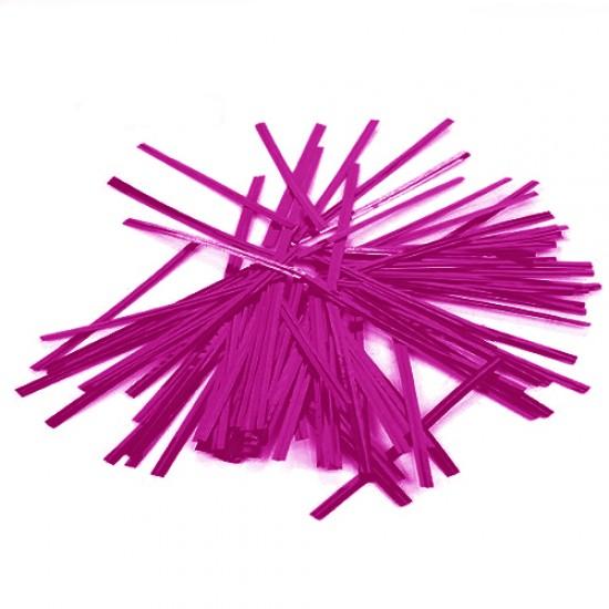 Violetinės juostelės maišelių užrišimui, 25 vnt.