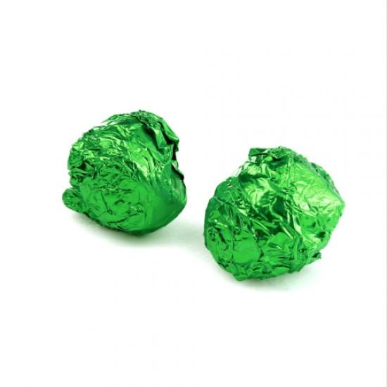 Žalia folija saldainiams įpakuoti, 15 vnt.