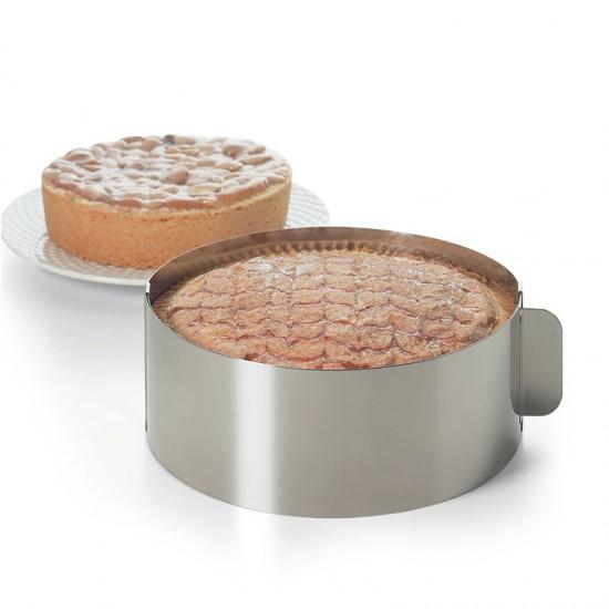 Reguliuojamas žiedas tortui, Ø nuo 15,5 cm iki 29,5 cm, h 7,5 cm