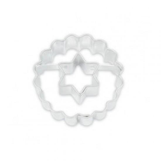 """Formelė sausainiams su skylute """"Žvaigždutė"""", Ø 3,7 cm"""