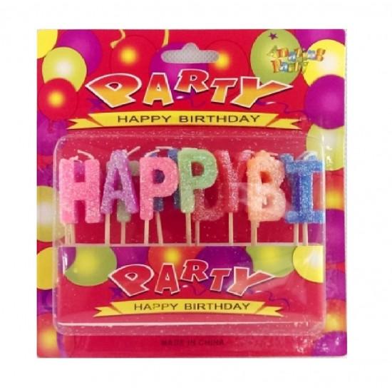 """Žvakutės """"Su gimtadieniu"""", 13 vnt."""