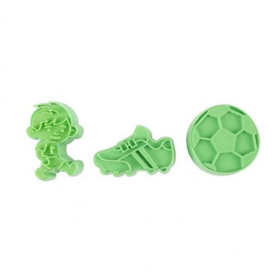 Formelės su įspaudais sausainiams ir masei: kamuolys, futbolininkas, batas