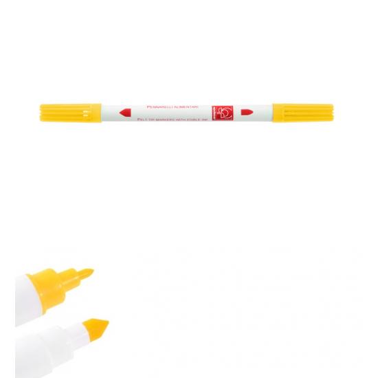 Dvipusis maistinis rašiklis - geltonas